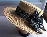 wheat straw braids hat