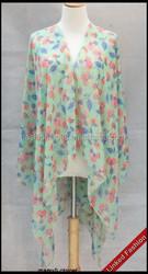 Wholesale Silk Chiffon Printed Wear Beach Wear poncho shawl