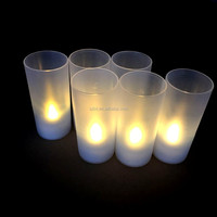 Warm White LED Flamless Tealight candle with Votive Holder/ LED Tealight candle with cup