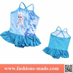 New Elsa Princess Halter Neck Girls' Swimwear