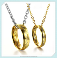 Shuisheng fashion design gold stainless steel lord of the ring pendant