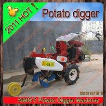 small mini hand tiller cultivator in garden farm