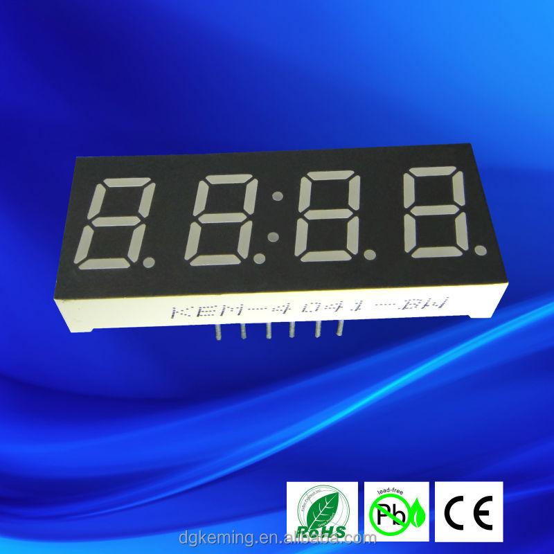 0.4 inch led clock sign 7 segments 4 digits 4041-a/bsr ultra red