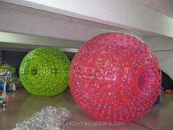 custom outdoor toy mini soccer zorb ball, inflatable body zorb ball for kids