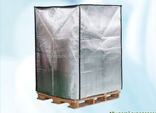 Insulated pallet cover, box cover, thermal insulation