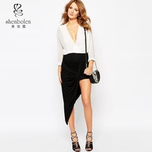 2015 Asymmetric wrap fashion casual and party skirt