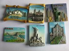 custom ceramic 3d fridge magnets for souvenir