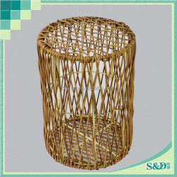 Hot selling 100% handmade PE rattan hollow out stool