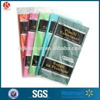 Walmart solid color plastic disposable PE/LDPE/non-woven Birthday Table cover(54*84)