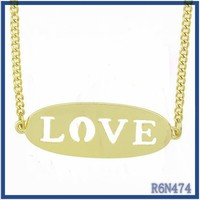 thai pupular style high quality fashion statement jewelry gold pendants love knot necklace