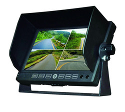 7'' digital shockproof TFT LCD car monitor with quad use for car or vessel or bus or truck