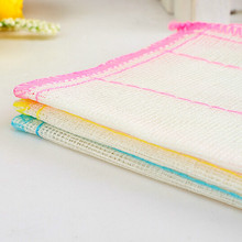 3pcs household cotton cleaning cloth towels 6 layers
