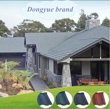 stone aluzinco roofing tile ceramic roof tile guangdong durable stone coated steel roofing tiles