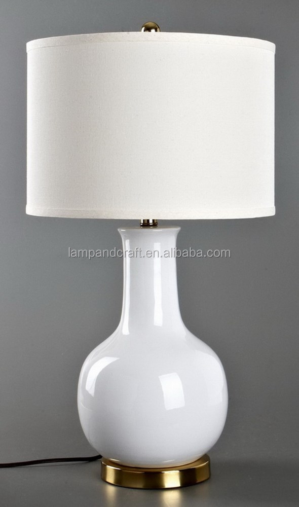 Cul ce rohs saa australia stile moderno bianco di ceramica for Basi in ceramica per lampade da tavolo