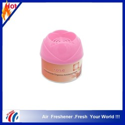 Made in China gel air freshener container, 80g lemon auto air freshener, hotel air freshener gel