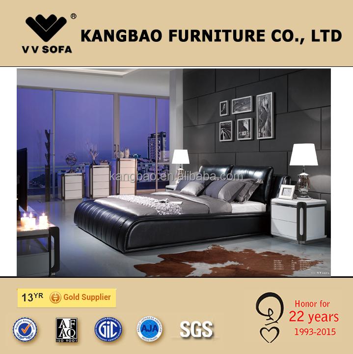 2015 New Bedroom Furniture Set Leather Upholstered King Size Bed