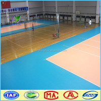 PVC Vinyl Indoor PVC sports flooring for Volleyball playground Wood Sports Flooring