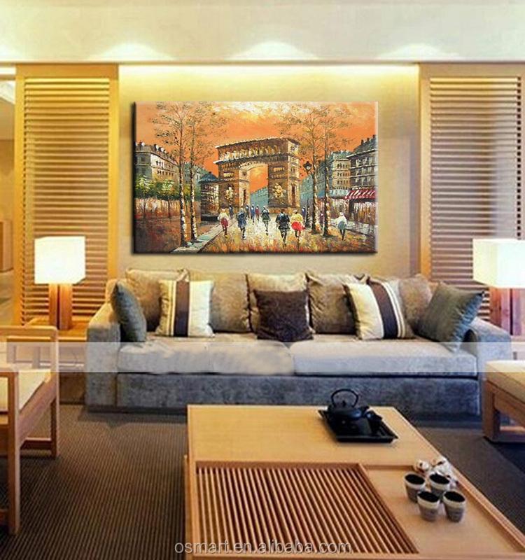 Adesivo de parede arte sala de estar pinturas de folhas de for Tele astratte dipinte a mano
