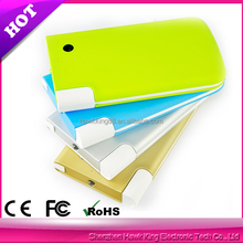 5000mAh portable power bank external battery charger portable mobile design with led torch