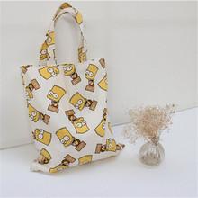 OEM Canvas Popular Boy Pattern Fashion Shopping Bags