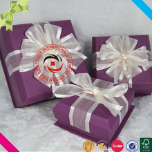 High quality fashionable luxury fancy cardboard paper box gift