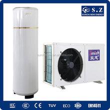 CE,TUV,Australia certificate 220V R410A 3kw,5kw,7kw,9kw COP4.2 ,max 60deg.C shower DHW tankless air to water heatpump split