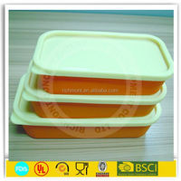 Novelty silicone heat seal food containers
