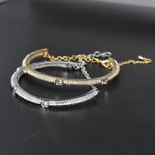 Austria shiny clear crystal paved setting latest design vogue jewellery bangle