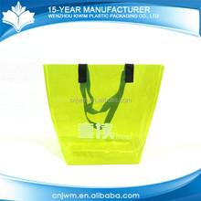 Reusable eco-friendly pvc plastic pp shopping bag with zipper