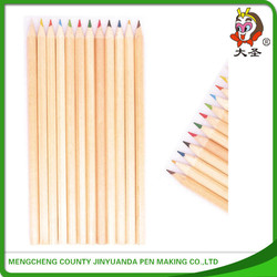2015 new arrival high quality promotional eco-friendly multi-color wooden color pencil