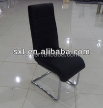 luxury cheap leather chrome dining chair design dining room furniture
