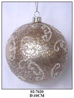 Handmade Champagne Christmas Decoration Glass Hanging Ball