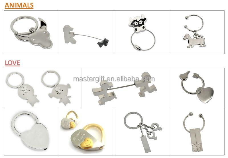 Zinc alloy nickel plated boys & girls wedding & couples love gift metal keyring, keychain, key holder, key ring, key chain