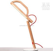 led lamp reading light 10w oak wood material indoor lighting eye protection The laptop desk lamp