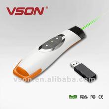 Hot selling RF 2.4G powerpoint green laser pointer presenter
