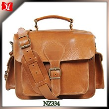 Men vegetable leather DSLR Digital Camera bag tan leather bag men hidden camera bag