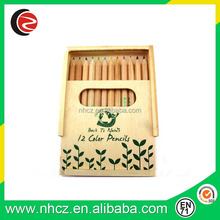 Natural wood color pencils for kids drawing set