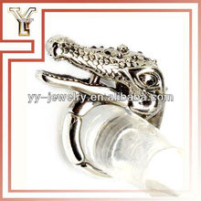 2015 High Quality Zinc Alloy Crocodile Stretch Man Ring