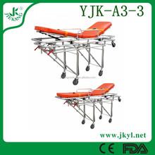 YJK-A3-3 aluminum ambulance car stretcher for rescue