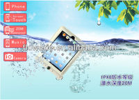FL2322 hot-selling IPX8 waterproof bag with thermometer for ipad