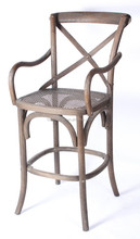 vintage crossback bar stool/2015 Factory Direct Stackable Cross Back chair, Solid wood Oak Wood Cheap Armrest Rattan X chair