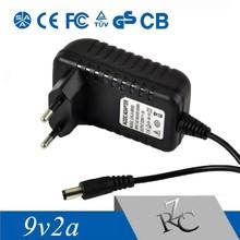 9V2A with eu plug Portable wall mount adapter