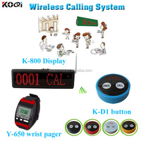 Wireless food call pager system K-800 Western Wrist Watch Y-650 With 2-key Transmitter Call Button K-D2