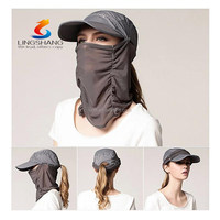 Sun UV protection outdoor magic cool face mask headwear multifunction fishing camping hat and cap