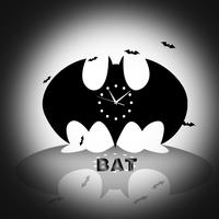 Funlife Popular Wall Clock Bats Figure Halloween Decor wc1435