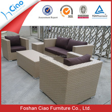 Standard size sofa rattan outdoor sofa soft furniture