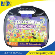 Halloween decoration Glow in the dark plastic Beads play set