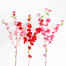 Artificial Peach Blossom Branch Artificial Flower Branch Wholesale Flower Tree Decoration