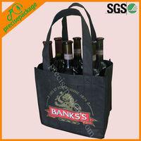 Eco friendly non woven wine tote bag for 6 bottle