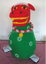 funny and cute 120cm rotatable lion, inflatable decoration
